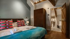Second double bedroom with sumptuous super-king bed