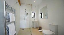 Modern, spacious family bathroom