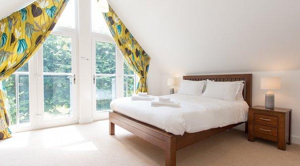 Double bedroom in three bedroomed, luxury villa