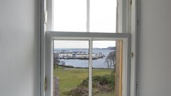 Excellent views of Stornoway harbour or the forest