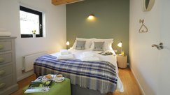 Cosy double bedroom with local furnishings
