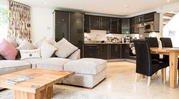 Open plan four bedroomed luxury villa