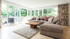 Sink into the plush sofas and gaze out onto the woodland