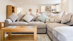 Plump family sofas